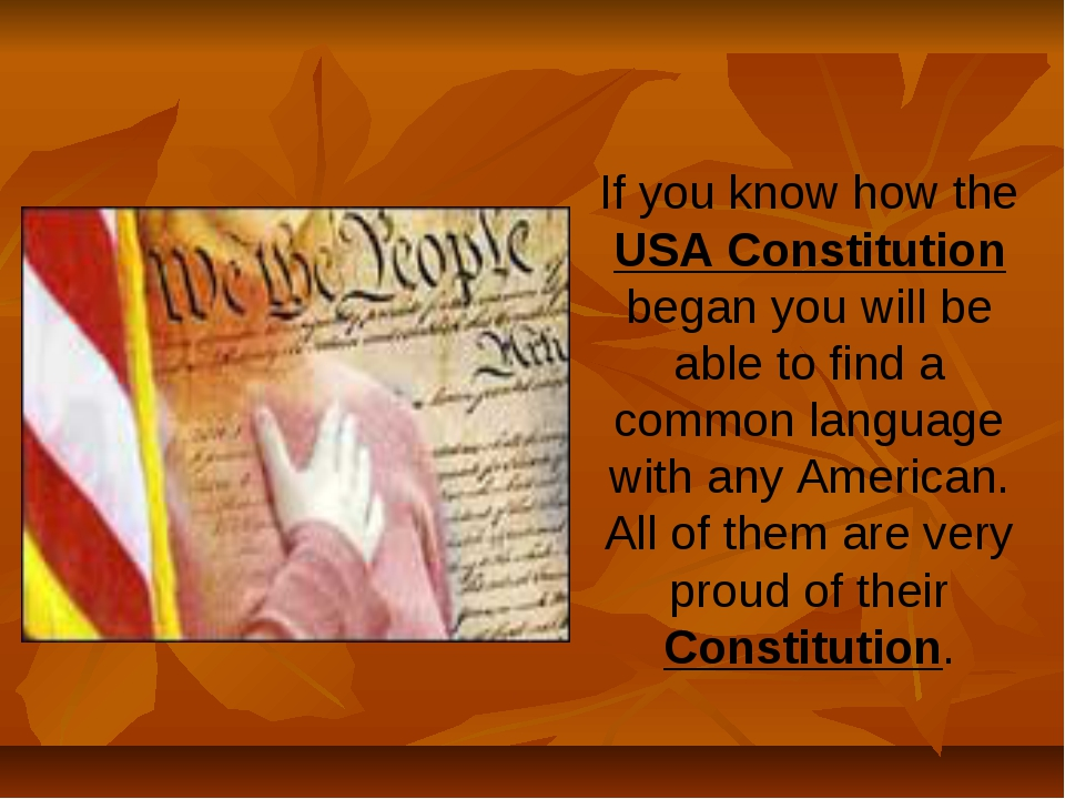 If you know how the USA Constitution began you will be able to find a common...