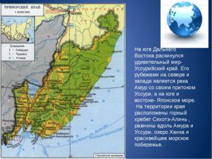 На юге Дальнего Востока раскинулся удивительный мир- Уссурийский край. Его ру