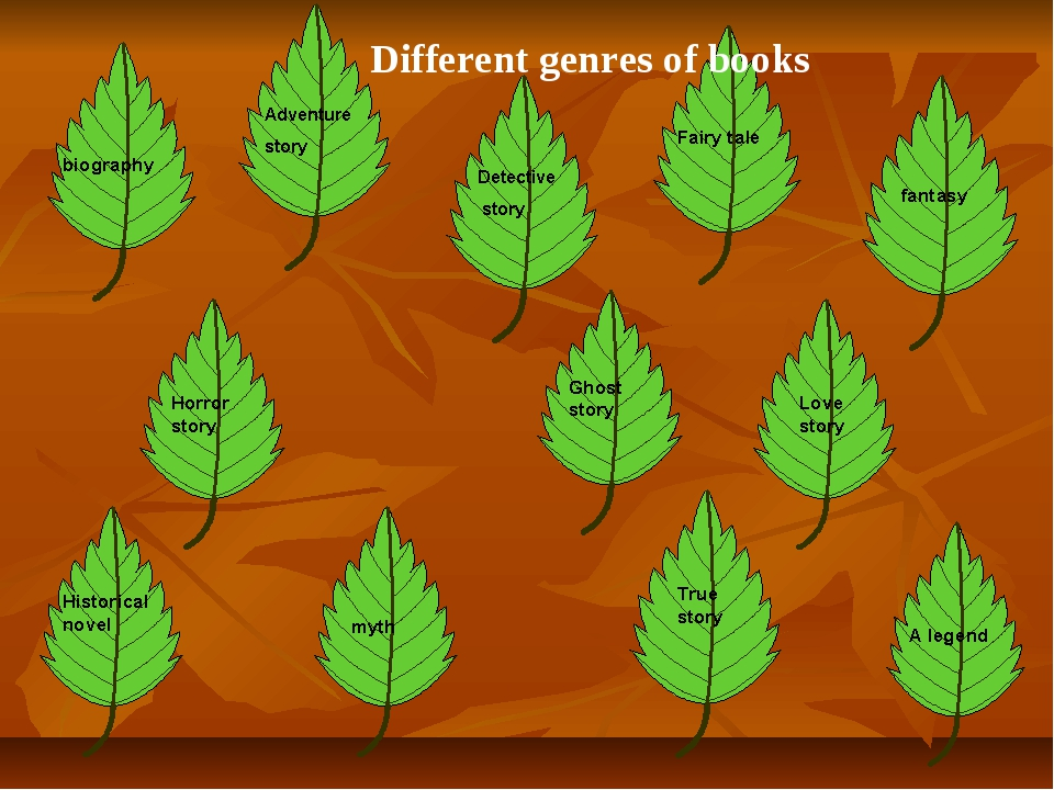 Different genres of books