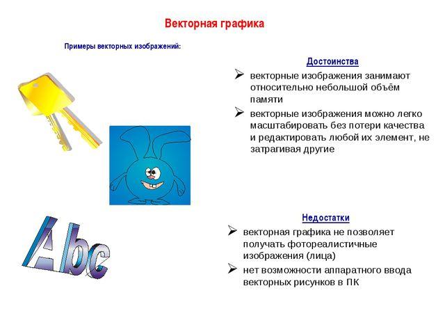 Примеры векторных изображений: Векторная графика Достоинства векторные изобра...