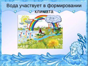 Вода участвует в формировании климата