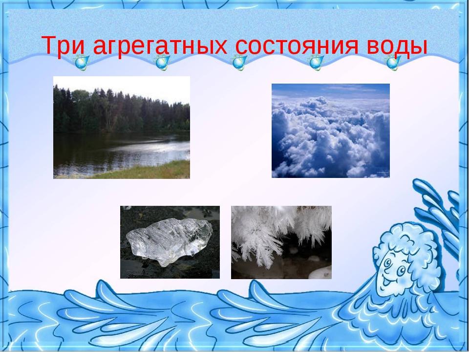 Три агрегатных состояния воды