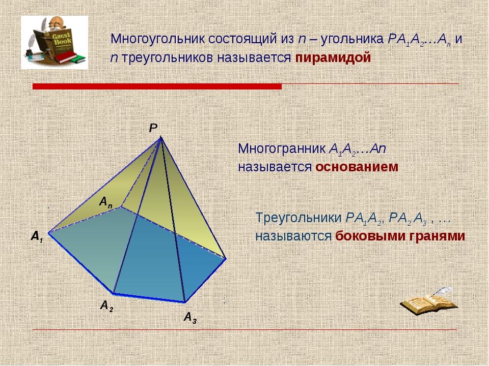 А2 А3 Р Многоугольник состоящий из n – угольника РА1А2…Аn и n треугольников...