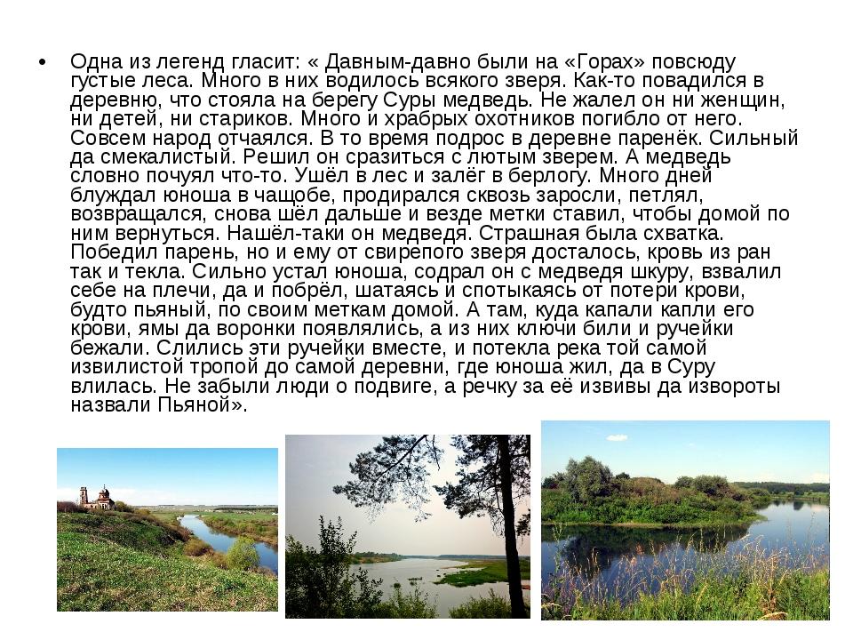 Одна из легенд гласит: «Давным-давно были на «Горах» повсюду густые леса. Мн...