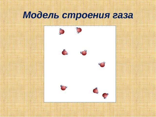 Модель строения газа