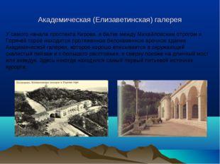 Академическая (Елизаветинская) галерея У самого начала проспекта Кирова, в ба