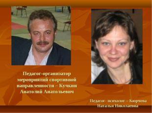 Педагог-организатор мероприятий спортивной направленности – Кучкин Анатолий А