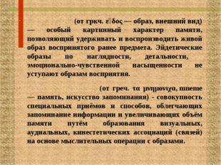 ЭЙДЕТИ́ЗМ (от гркч. εἶδος — образ, внешний вид) — особый картинный характер п