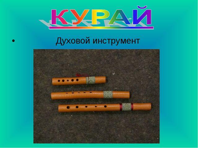 Духовой инструмент