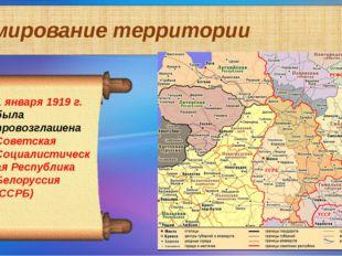 Формирование территории 1 января 1919 г. была провозглашена Советская Социали
