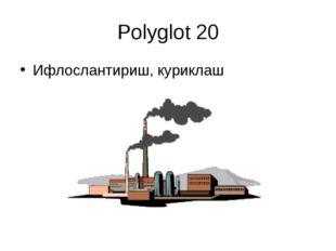 Polyglot 20 Ифлослантириш, куриклаш