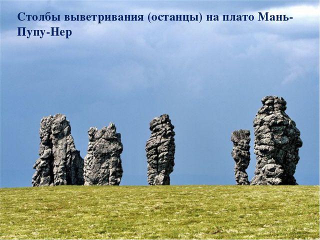 Столбы выветривания (останцы) на плато Мань-Пупу-Нер