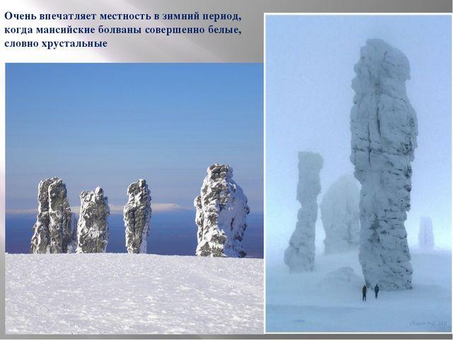 Очень впечатляет местность в зимний период, когда мансийские болваны совершен...