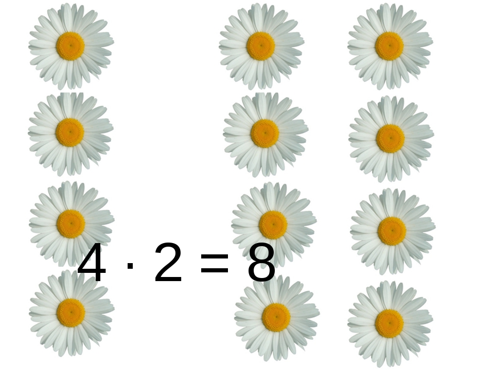 4 ∙ 2 = 8