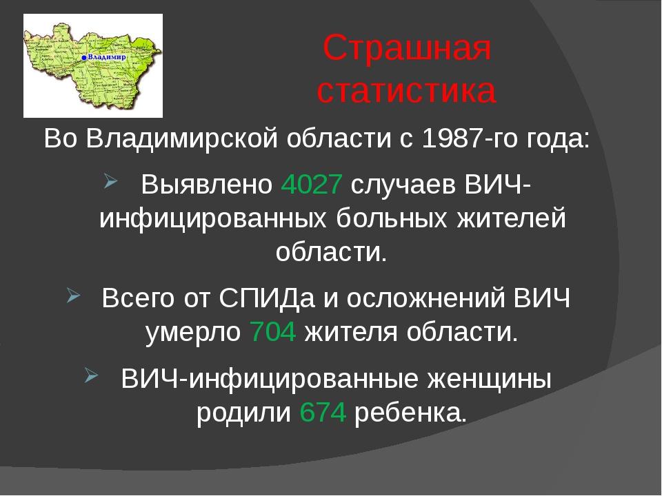 Страшная статистика Во Владимирской области с 1987-го года: Выявлено 4027 слу...