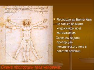 Леонардо да Винчи был не только великим художником но и математиком. Слева вы