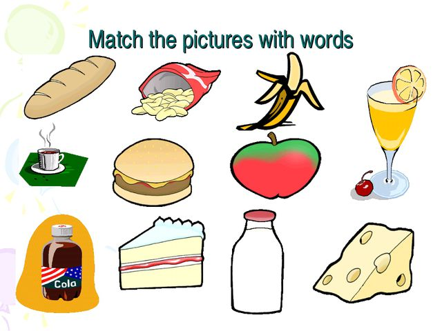 Match the pictures with words