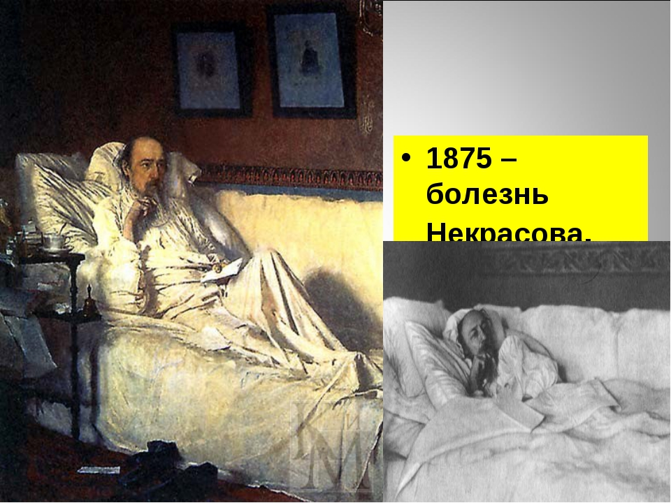 1875 – болезнь Некрасова.