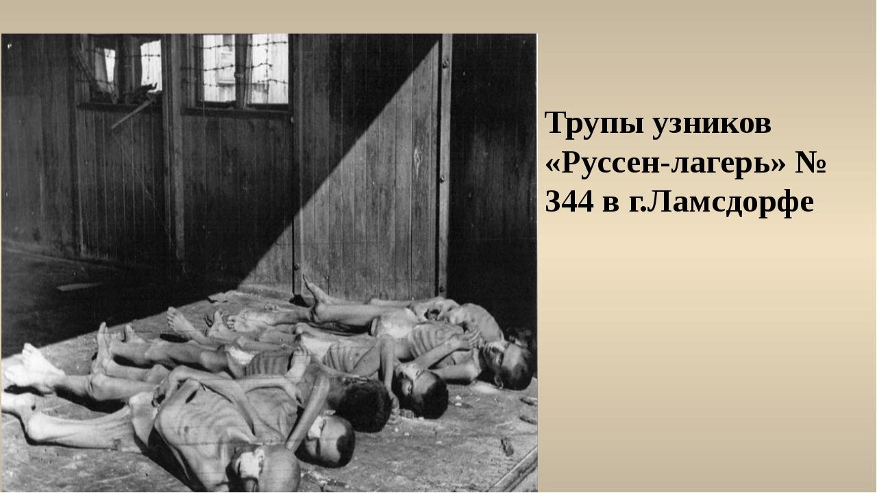 Трупы узников «Руссен-лагерь» № 344 в г.Ламсдорфе