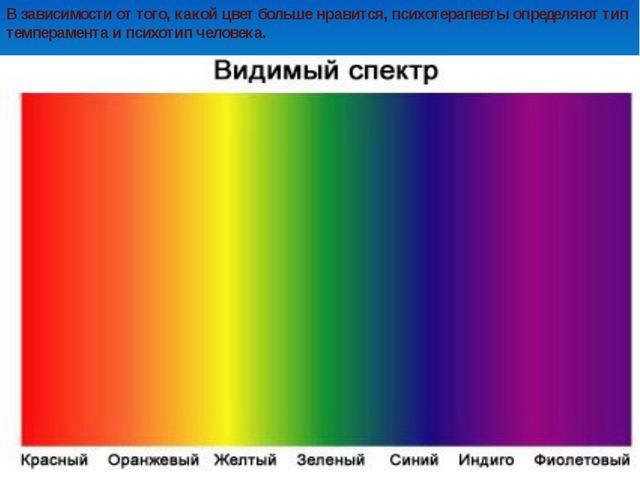 В зависимости от того, какой цвет больше нравится, психотерапевты определяют...