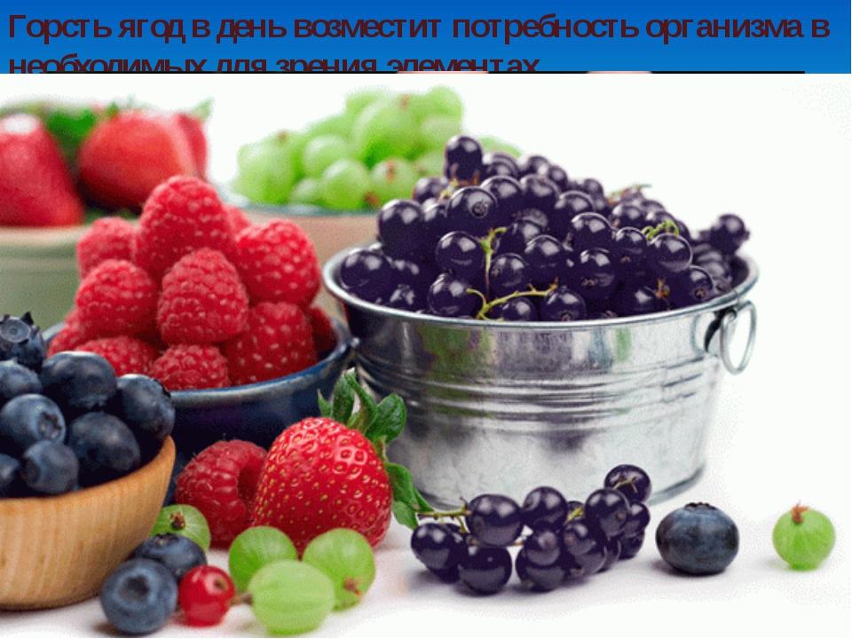 Горсть ягод в день возместит потребность организма в необходимых для зрения э...
