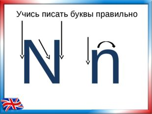 Учись писать буквы правильно N n