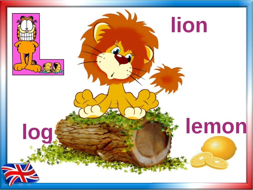 log lemon lion