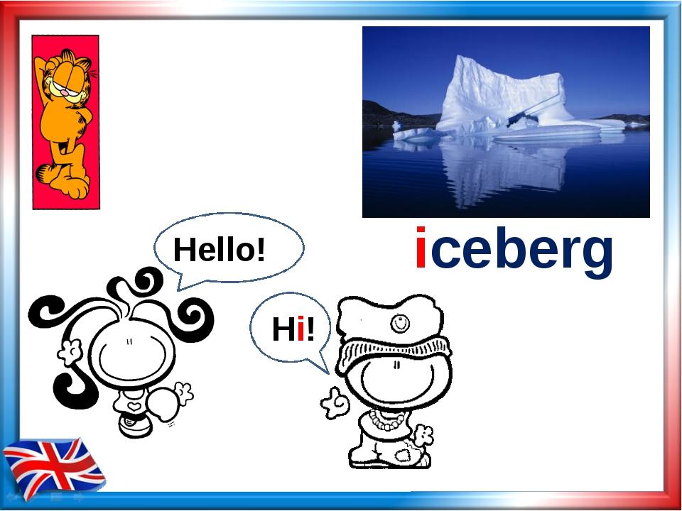 iceberg Hello! Hi!
