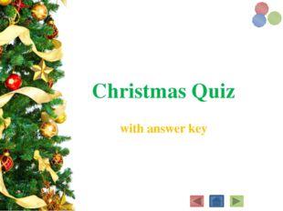 Christmas Quiz with answerkey