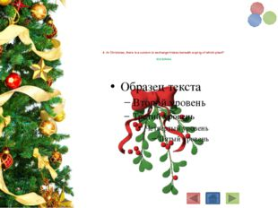 4. At Christmas, there is a custom to exchange kisses beneath a sprig of whi