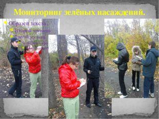 Мониторинг зелёных насаждений.