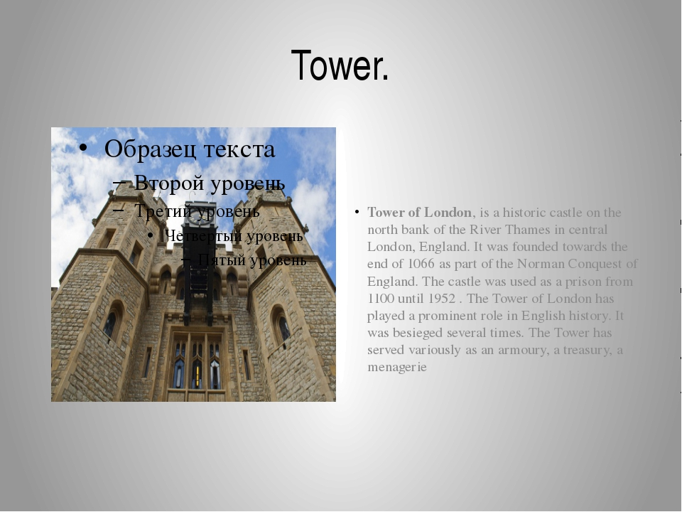 Tower. Tower of London, is a historic castle on the north bank of the River T...