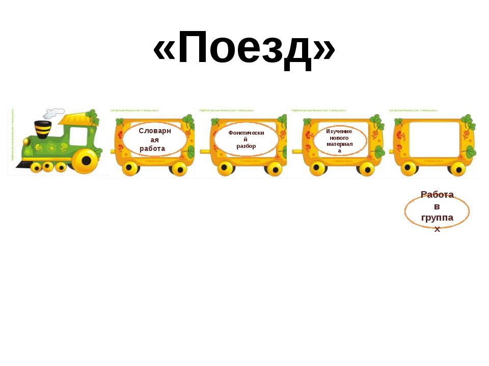 «Поезд» Словарная работа Фонетический разбор Изучение нового материала Работа...