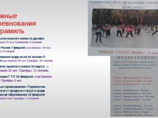 Лыжные соревнования г. Арамиль В открытие лыжного сезона 14 декабря участвова