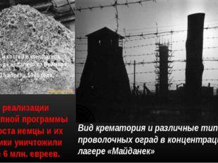Вид крематория и различные типы проволочных оград в концентрационном лагере «