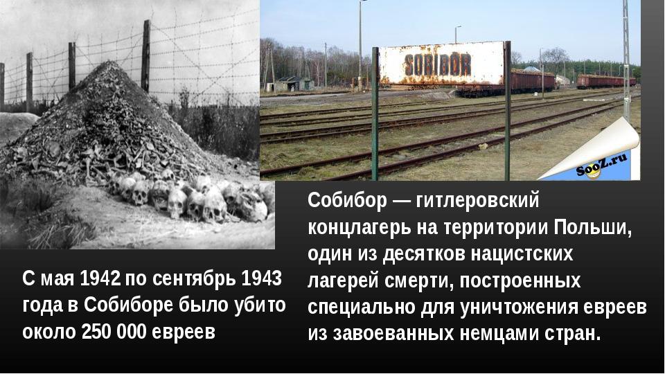 Собибор — гитлеровский концлагерь на территории Польши, один из десятков наци...