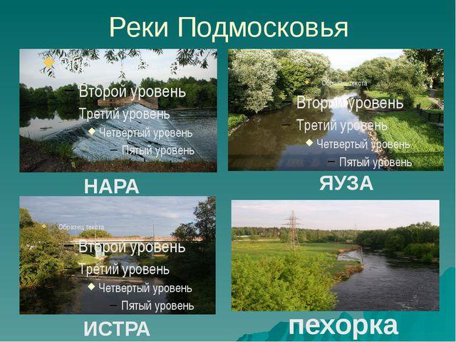Реки Подмосковья НАРА ИСТРА ЯУЗА пехорка