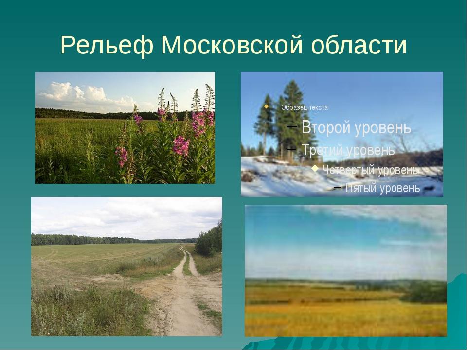 Рельеф Московской области