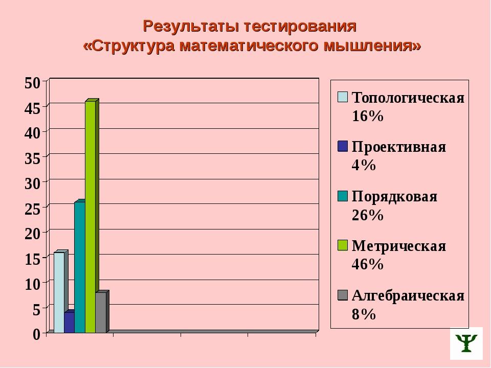 Результаты тестирования «Структура математического мышления»