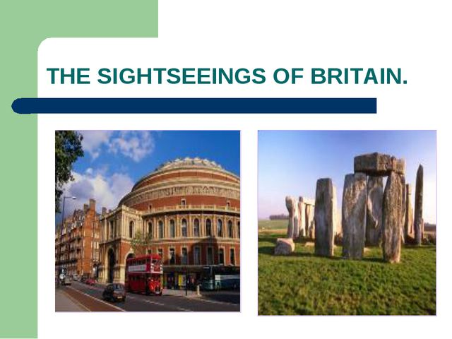THE SIGHTSEEINGS OF BRITAIN.