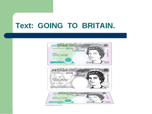 Text: GOING TO BRITAIN.