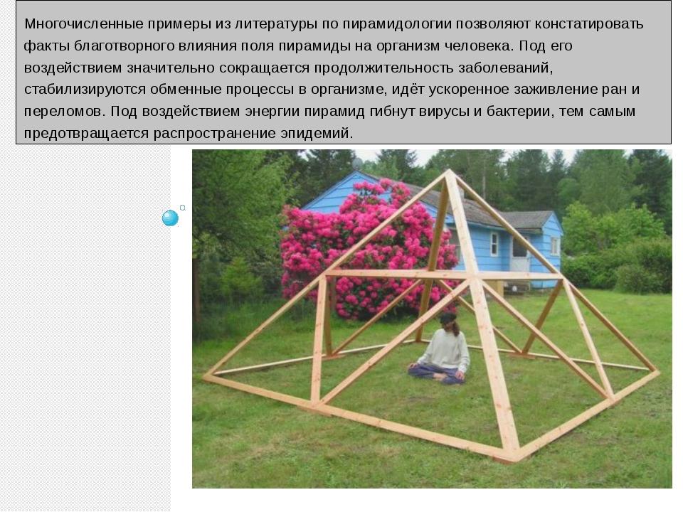 Многочисленные примеры из литературы по пирамидологии позволяют констатирова...