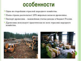 Одна из старейших отраслей народного хозяйства. Наша страна располагает 25% м
