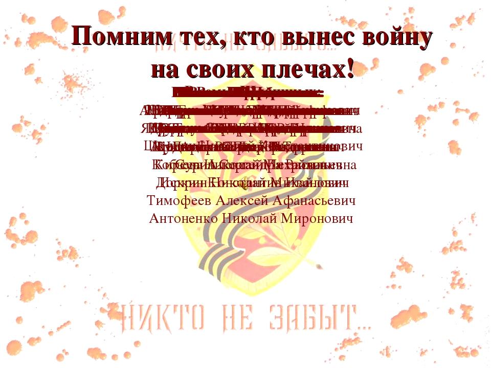Помним тех, кто вынес войну на своих плечах! В семье Барханских: Барханский С...
