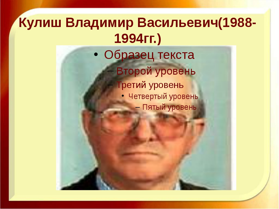 Кулиш Владимир Васильевич(1988-1994гг.)