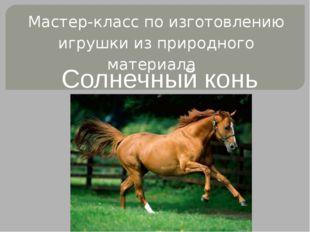 Мастер-класс по изготовлению игрушки из природного материала Солнечный конь