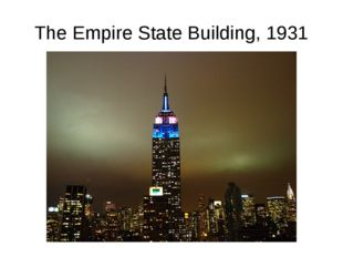 The Empire State Building, 1931
