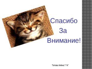 """Титова Алёна 7 """"А''"""