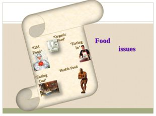 'GM Food' 'Organic Food' Food issues 'Eating Out' 'Eating In' 'Health Food