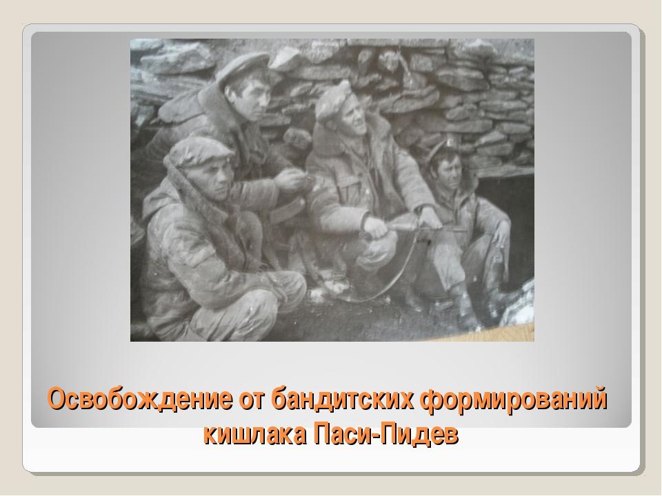 Освобождение от бандитских формирований кишлака Паси-Пидев